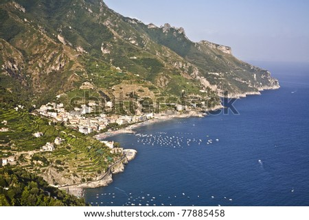 Famous Amalfi Coast view from Ravello, Italy