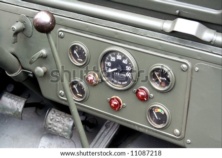 Famous American WW2 car interior