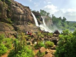 Famous Athirapally Waterfalls in Kerala Jungle - Kochi, India (Cochin)