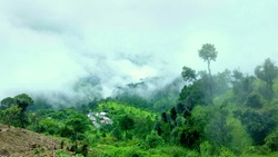 Famous, beautifut and ever green hill station, Munnar, in Kerala, South India