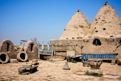 Famous beehive houses of Harran, Sanliurfa Turkey.