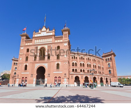 Famous bullfighting arena - Plaza de Toros in Madrid. Spain.