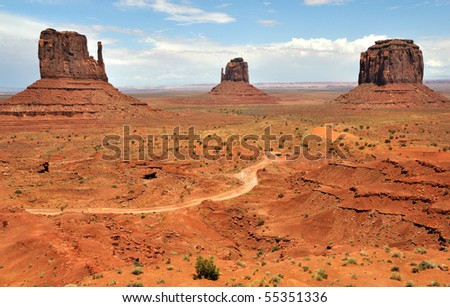 Famous Buttes of Monument Valley