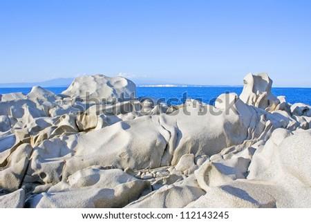 famous Capo Testa in the north of Isle Sardinia, Italy