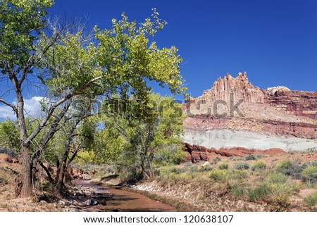 famous Castle rock in Capitol Reef National Park, Utah