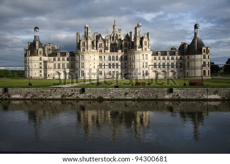 Famous Chambord castle in France (Loire Valley)