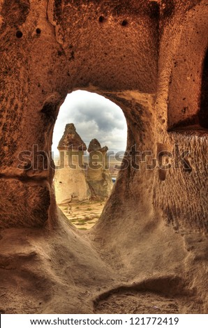 Famous city  Cappadocia in Turkey, HDR photography