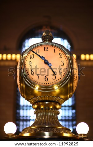 Famous clock of grand central station