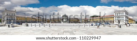famous Commerce Square also known as Terreiro do Paco in Lisbon,