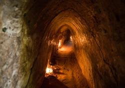 Famous Cu Chi tunnels. Vietnam