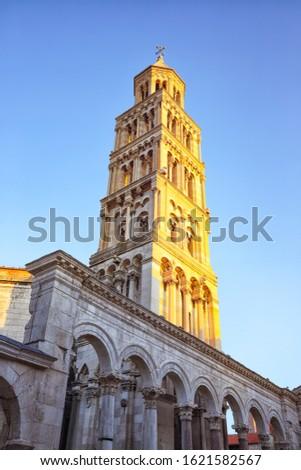 Famous Diocletian Palace  built for Emperor Diocletian in historic center of Split. Location:  Split, Dalmatia, Croatia, Europe