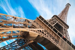 famous Eiffel Tower in Paris, France.