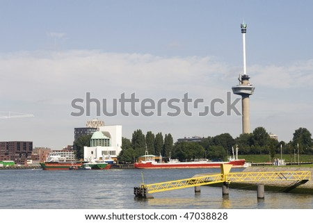Famous Euromast tower in Rotterdam