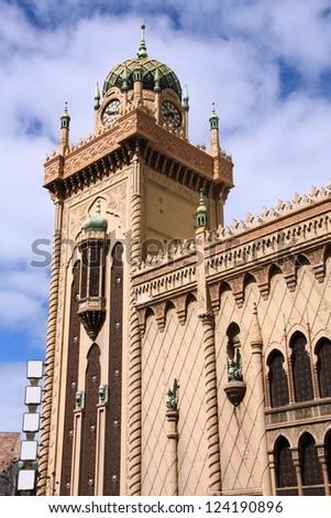 Famous Forum Theatre in Melbourne, Australia. Moorish Revival style exterior.