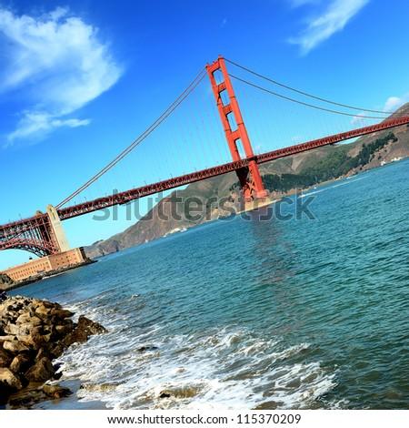 famous Golden Gate Bridge, San Francisco, USA