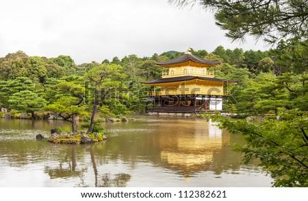 Famous Golden Temple in Japan