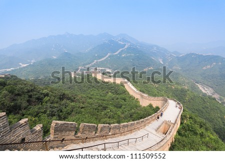 famous great wall at badaling in beijing, China