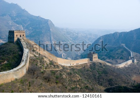 Famous great wall at Simatai near Beijing, China