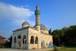 Famous Green Mosque, in the historical city Iznik. Bursa, Turkey. It is one of the first examples of Ottoman architecture. Year of construction 1391.