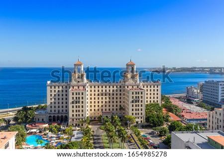 Famous historic Hotel Nacional in Havana near Malecon in Vedado district Foto stock ©