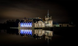 Famous historical castle in Chantilly, France.