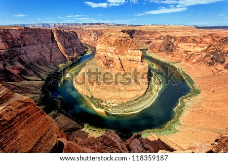 Famous Horse Shoe Bend at Utah, USA