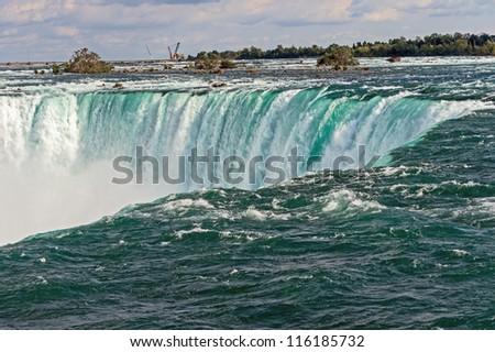 Famous Horseshoe Falls in Niagara Falls, Ontario, Canada