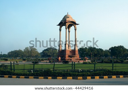 Famous Indian place in Delhi - India Gate