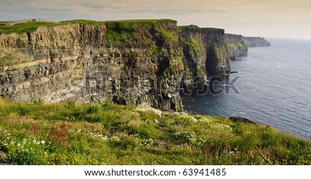 famous irish cliffs of moher landscape west coast ireland