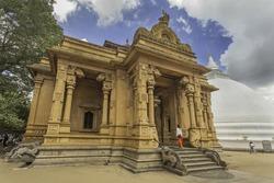 Famous Kelaniya Buddhist Temple with Stupa, Colombo, Sri Lanka