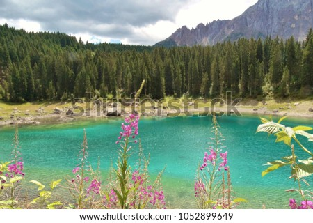famous lake of Carezza #1052899649
