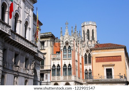 Famous landmark in Padua, Italy - Cafe Pedrocchi. Old architecture.