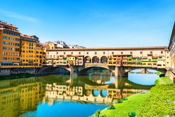 Famous landmark Ponte Vecchio in Florence, Italy.