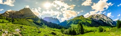 famous landscape at the eng alm in austria