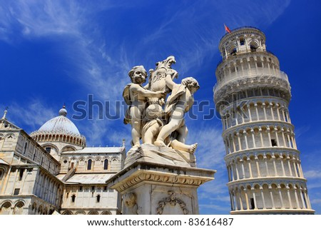Famous leaning tower of Pisa