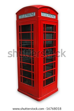 Famous London Phone on white background .