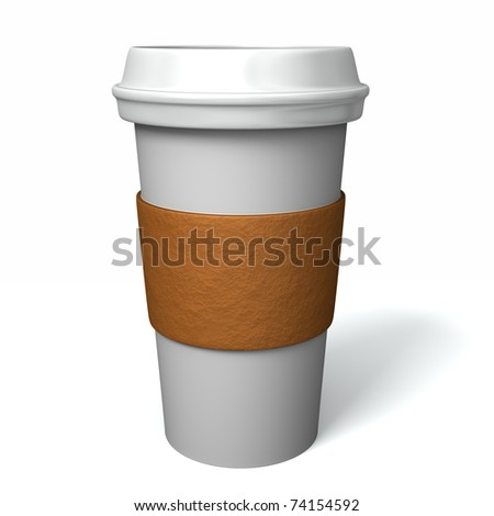 Famous maker style paper coffee cup with insulation paper and plastic lid