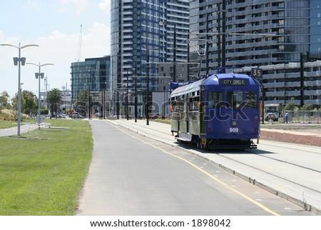Famous Melbourne's City Circle tram (CBD, Melbourne, Australia)