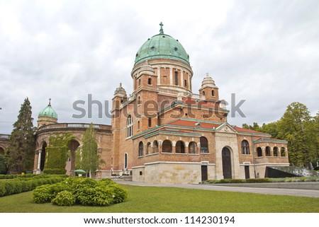 famous Mirogoj  and Church of Christ the King, Zagreb, Croatia