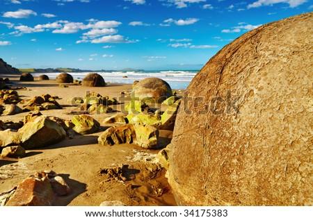 Famous Moeraki Boulders, New Zealand