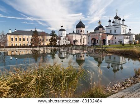 Famous monastery near Moscow, Russia. Voznesenskaya Davidova pustyn.