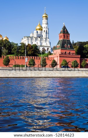 Famous Moscow Kremlin in winter, Russia