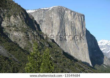 Famous natural landmark El Capitan. Yosemite national park. California. USA