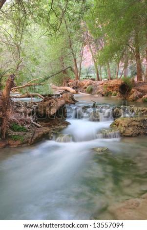 Famous natural landmark Havasupai, the indian reserve. Arizona. USA