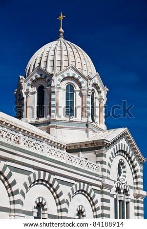 Famous Notre Dame de la Garde in Marseilles in France