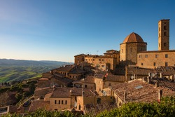 Famous panorama of the city of Volterra