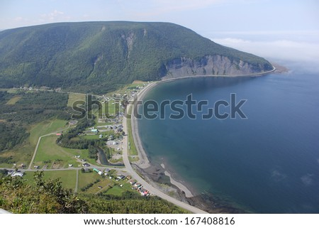 Famous paragliding spot of Mount Saint Pierre - Mont Saint Pierre in Saint Lawrence shore coast, Gaspesie, Quebec, Canada