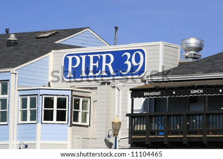 Famous pier 39 at the Fisherman's Wharf in San Francisco