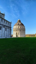 Famous Pisa Baptistery of St. John
