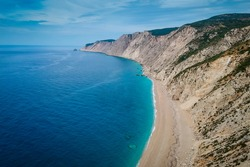 Famous Platia Ammos beach which was affected by the earthquake in the spring of 2014